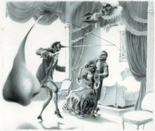 "Illustration to the E.T.A. Hoffmann's ""Choosing The Bride"""